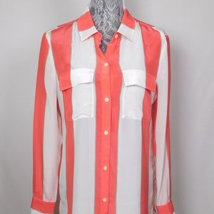 Victoria's Secret Stripe Silk Blouse S